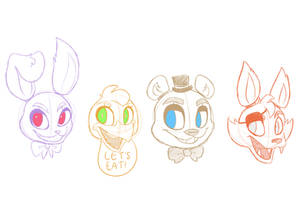 Five Nights at Freddy's Character Designs