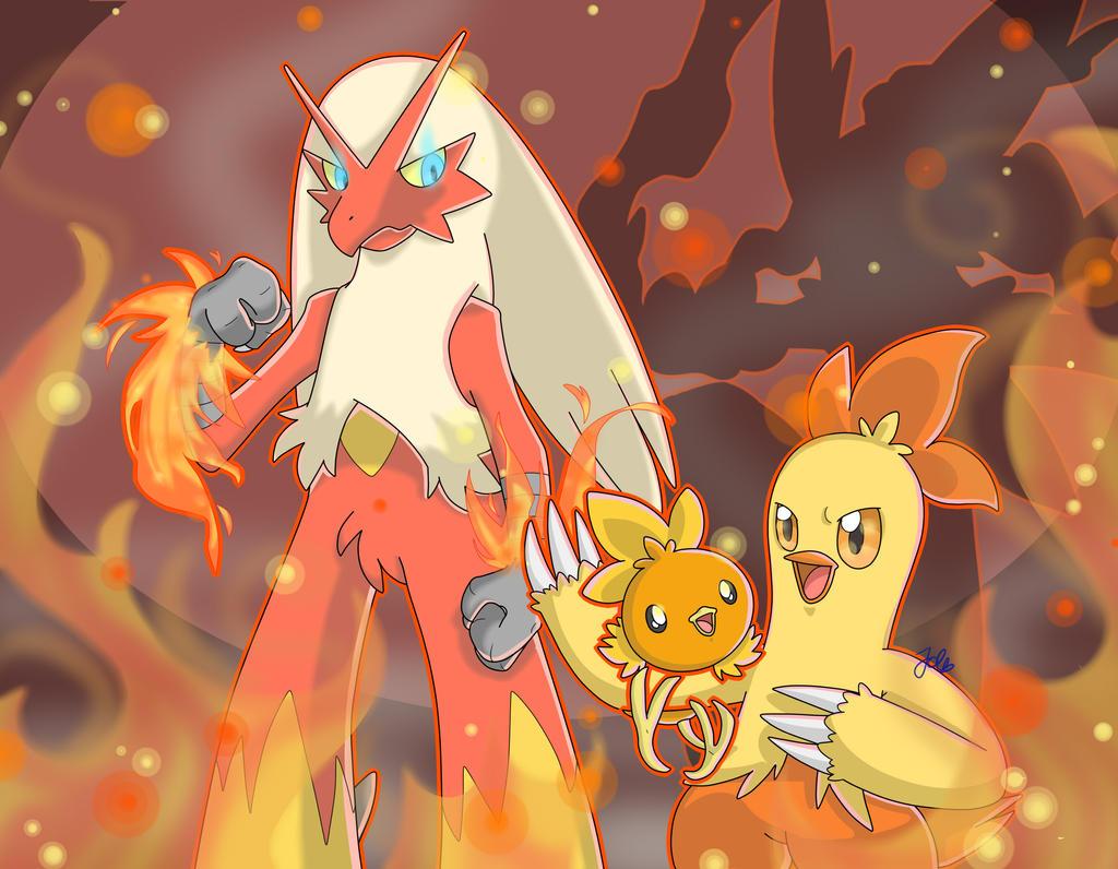 Speedart Pokemon Torchic Combusken Blaziken By