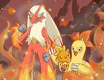 [SpeedArt] Pokemon: Torchic, Combusken, Blaziken