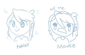 Mouse vs Tablet by JaidenAnimations