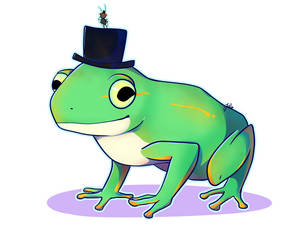 Patreon Commission: Frog and Fly with a Top Hat
