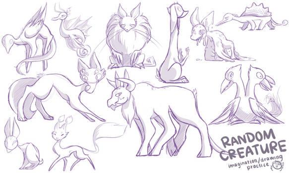 Creatures (imagination practice)