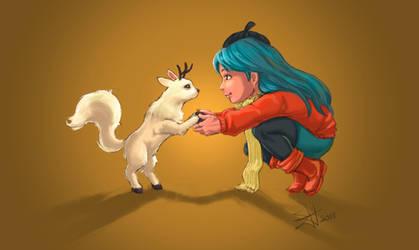 Hilda and Twig by Xavy-027