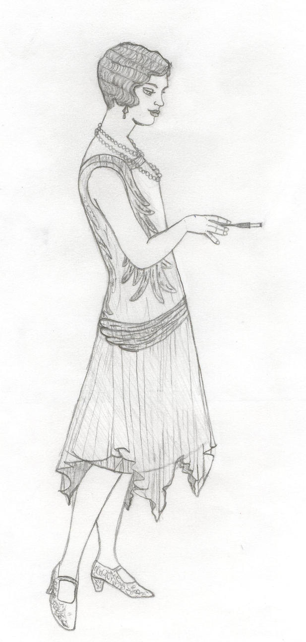 1920s flapper by keeganyoung on deviantart