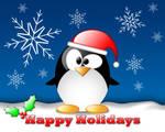Happy Holidays Crystal Penguin by nowhereman2k3