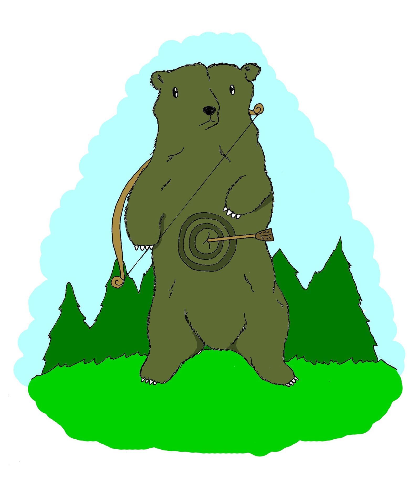 Target bear by hoity toity holiday on deviantart for Belly button bears wall mural