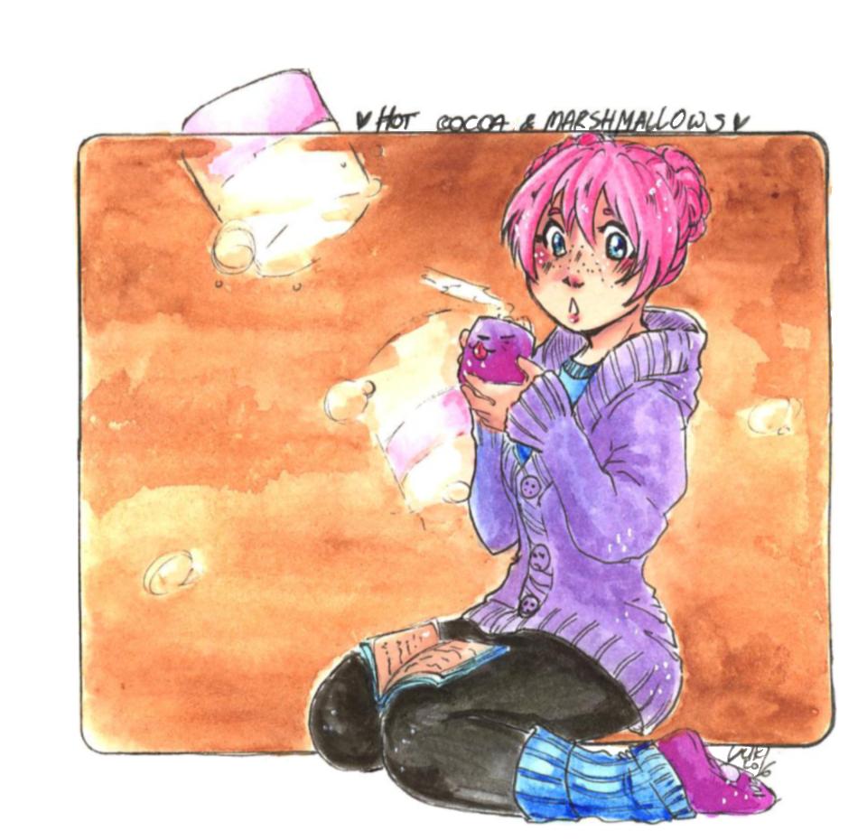 .: Hot cocoa and marshmallows :. by yukifubuki
