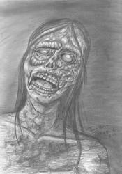 A zombie by BakaNyaNya