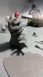 Baby dragon sculpt WIP