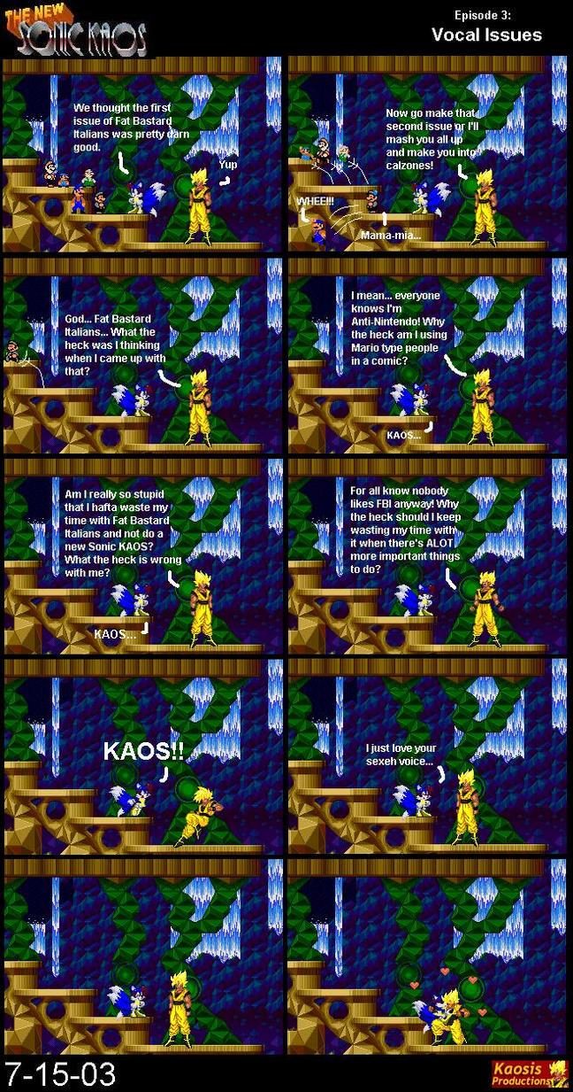The NEW Sonic KAOS #3 by KaosJay666