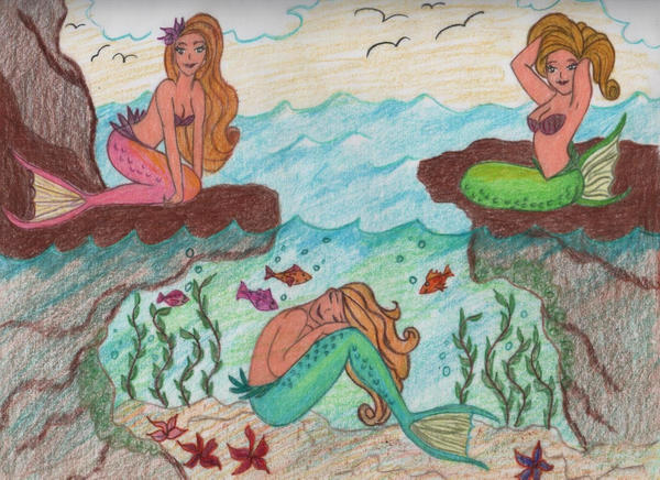Mermaids by jujubeeze