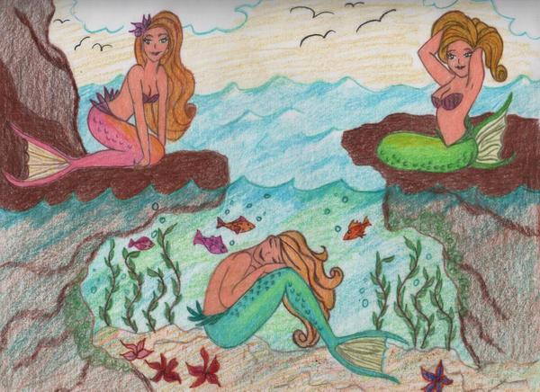 Mermaids by jujubeeze