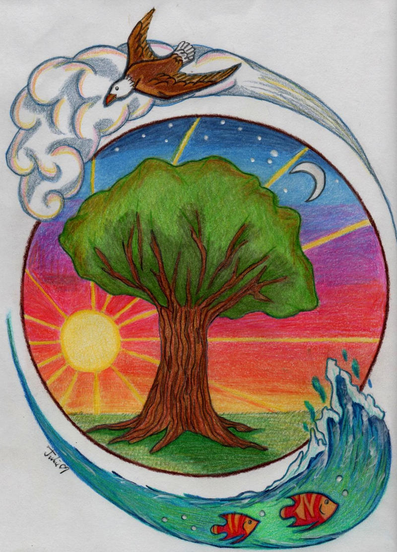Elements Of Art Drawing : Nature s four elements by jujubeeze on deviantart