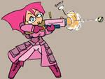 pinkamena taking aim