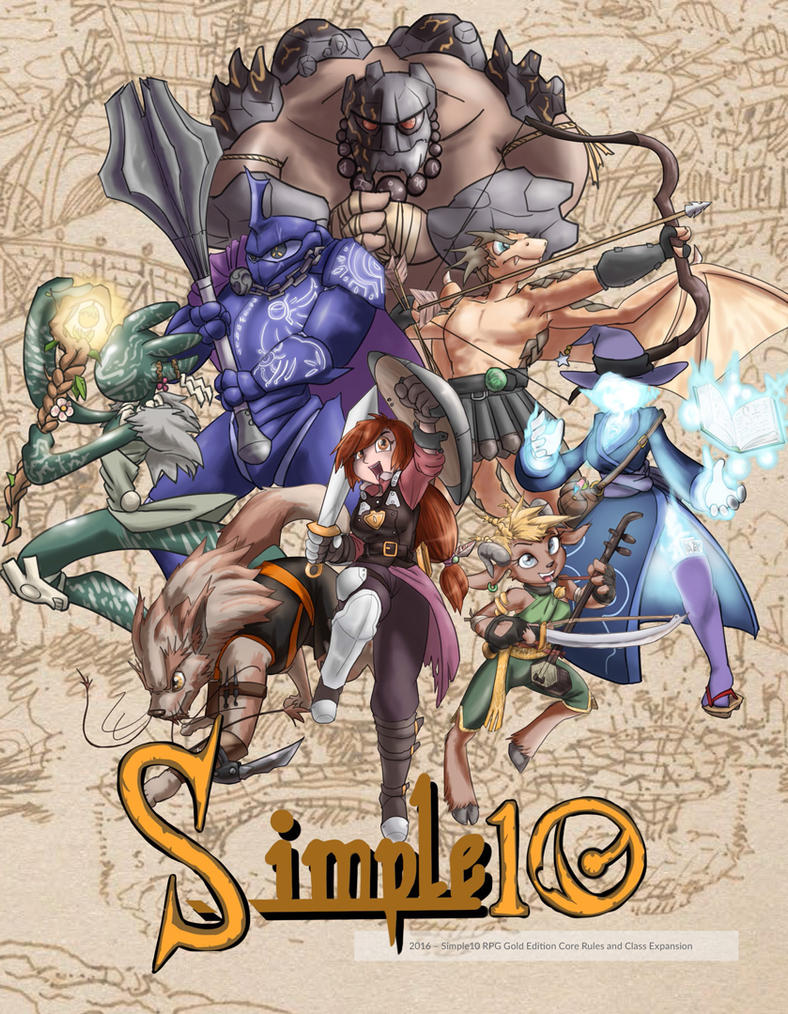 Simple10 RPG Gold Edition Cover by moronsonofboron