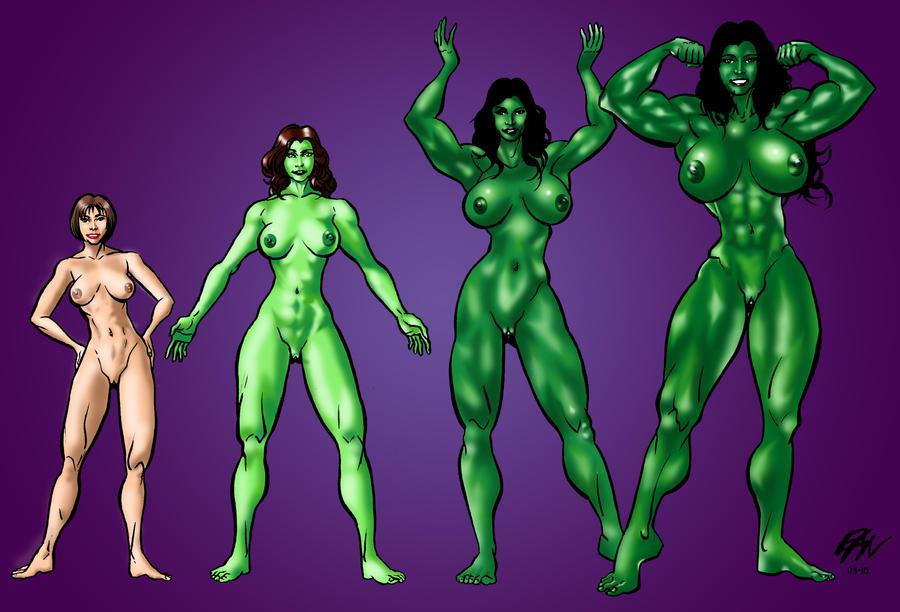 She Hulk Nude Transformation