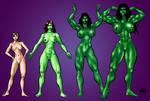 She Hulk Tranformation by ericalannelson