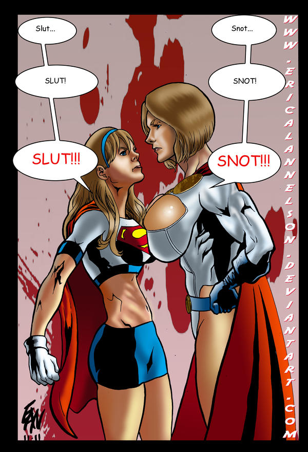 Kryptonian Faceoff by ericalannelson