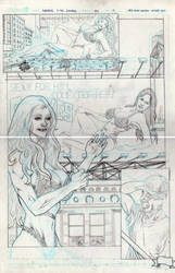 Femforce 151 Pg 10 pencils by ericalannelson