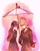 Sharing an Umbrella by Tubigpo32
