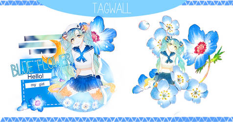 TagWall: Blue Flower by Minh-Duong