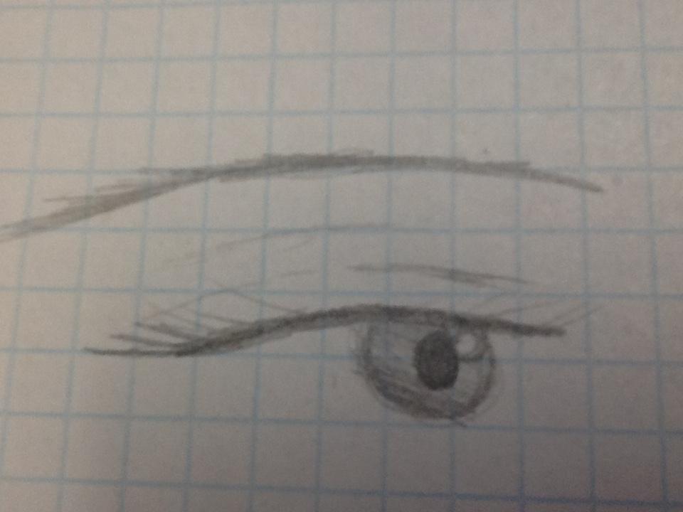 Female eye practice by ADerpyHeart