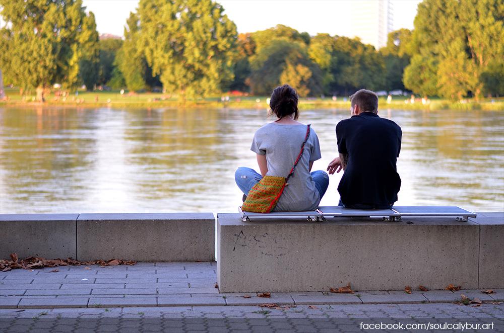 Rheinpromenade couple by SoulCalybur