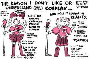 THE REASON I DON'T LIKE OR UNDERSTAND COSPLAY by Ithlini