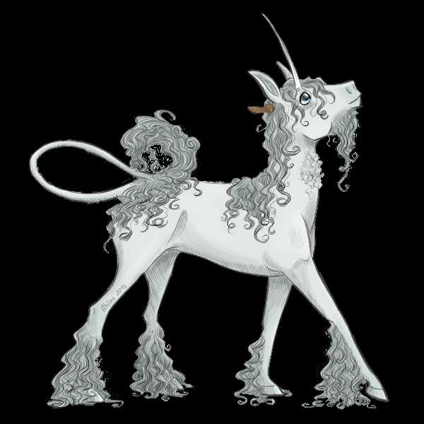 White Medieval Unicorn Iyse by Ithlini