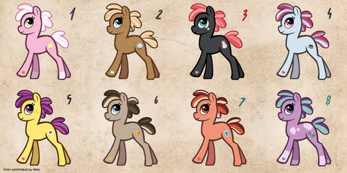 [CLOSED] Free Pony Adopts 2 by Ithlini