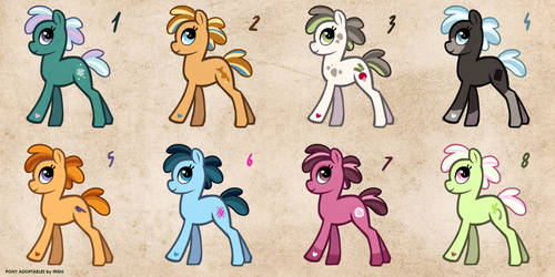 [CLOSED] Free Pony Adopts 3 by Ithlini