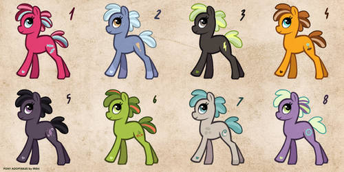 [CLOSED] Free Pony Adopts 4 by Ithlini
