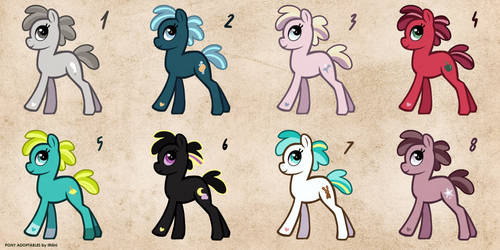[OPEN] Free Pony Adopts 5 by Ithlini