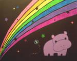 hippo and rainbow