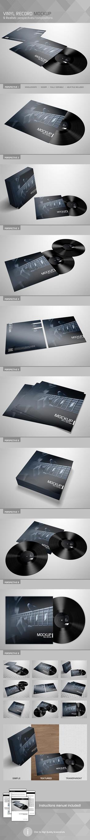 Realistic Vinyl Record Mockup by Kipet
