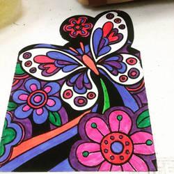 Butterfly Velvet Art