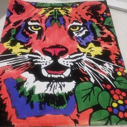 Rainbow Tiger Velvet Art