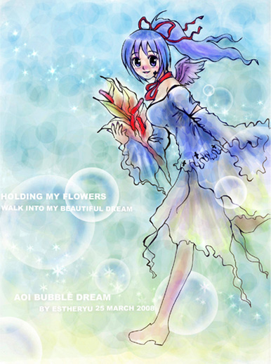 Aoi bubble dream by Estheryu