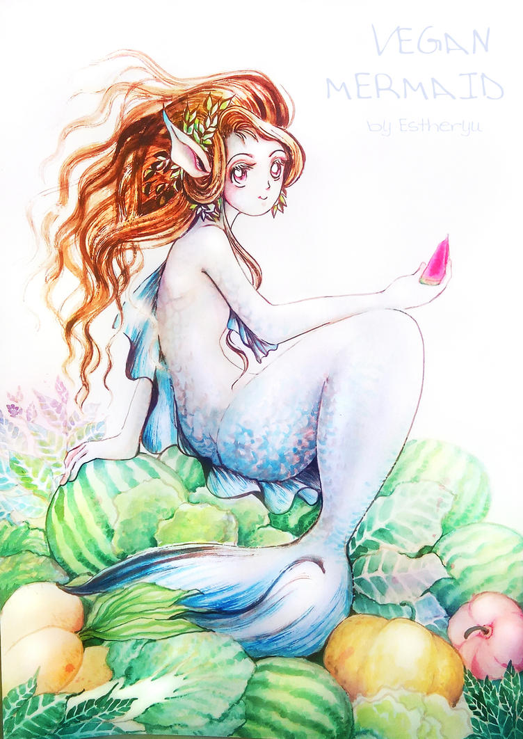 vegan mermaid by Estheryu