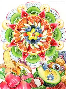 Mandala Fruits
