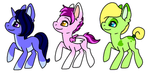 Pony Adopts 2 by PixelEien