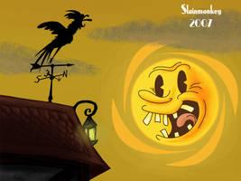 Cartoon sunrise by Slainmonkey
