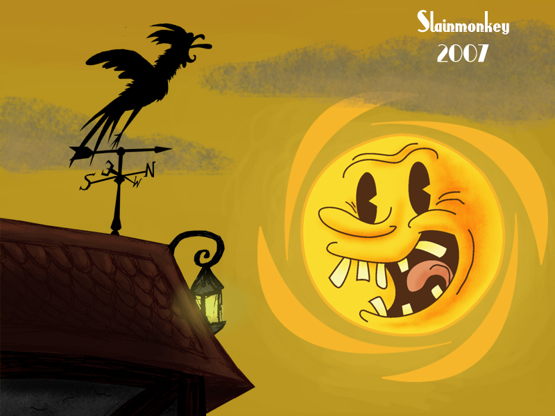 pin house cartoon sunset - photo #30