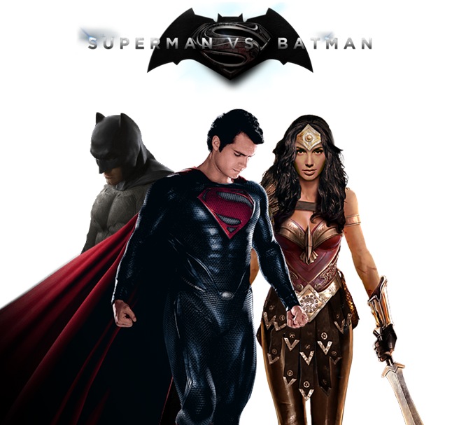 Batman VS Superman Poster No Background By TChallaCBM