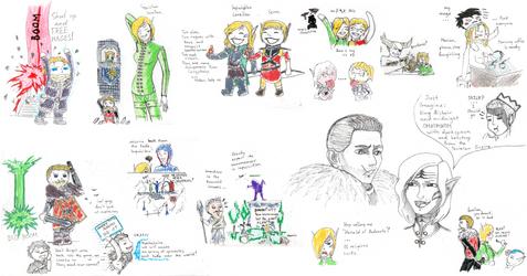 Dragon Age 2|Inquisition sketch dump by DafnaSmith