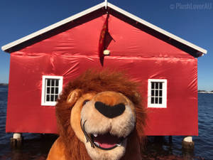 Rory stand in front of the Red Boat House