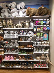 Australian Animals Plushies at the airport