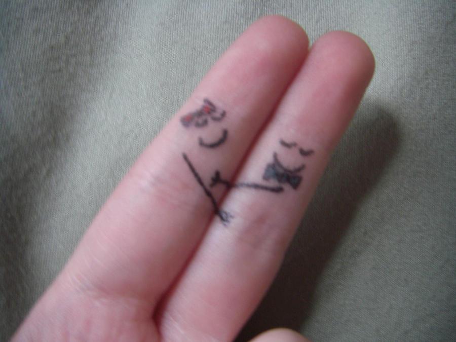 Finger Art Hugging