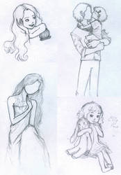 Some sketches by ArinaFoxy