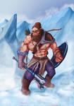 Krug Hammerfoot - Half-Orc Ranger
